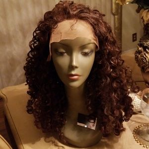 Accessories - Brown Curly Lace Front Wig 20inches